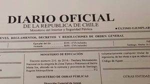 Diario Oficial (Decreto ZT Matta Sur)