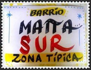 Letrero ZT Matta Sur