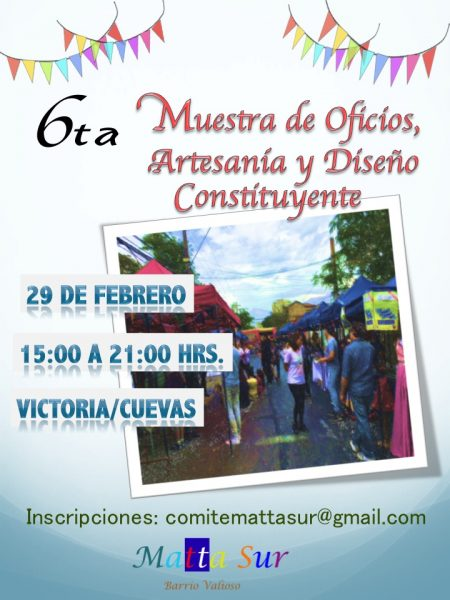 Afiche 6ª Muestra de Oficios