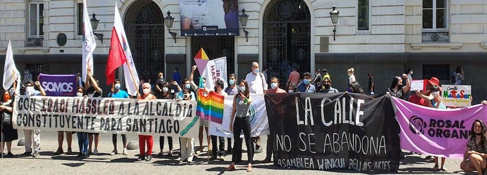 Proclamación Irací Hassler a la Alcaldía de Santiago