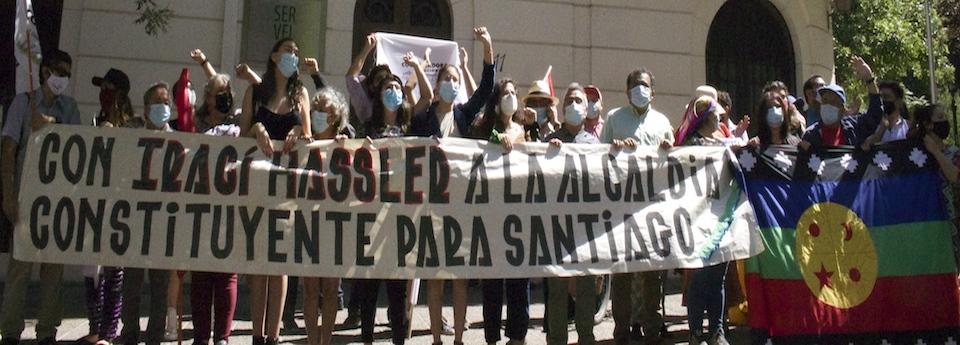 Inscripción Irací Hassler a la Alcaldía de Santiago