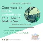 Construcción huerto comunitario en el barrio Matta Sur (1)